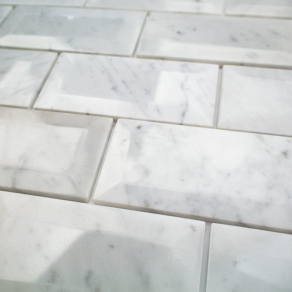 Shop For Speranza Carrera Beveled 3x6 Polished Marble Tile