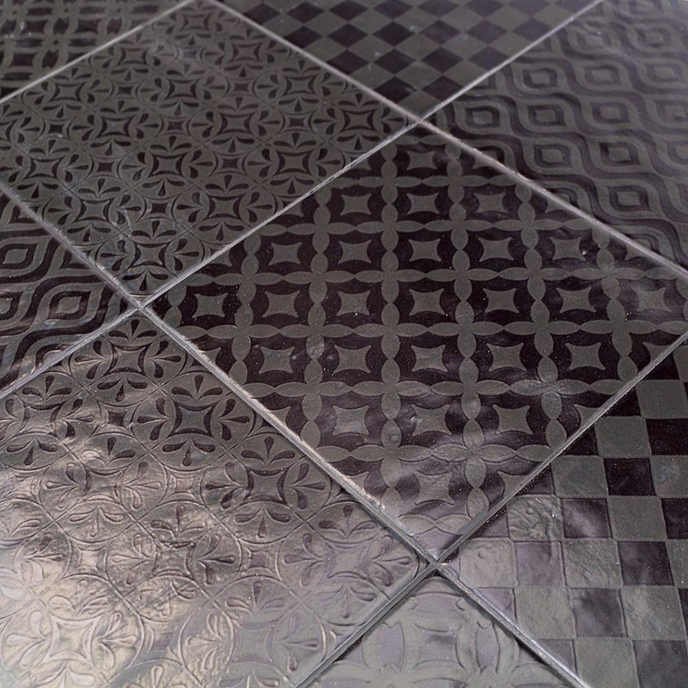 bestile modena nero 8x8 porcelain tile