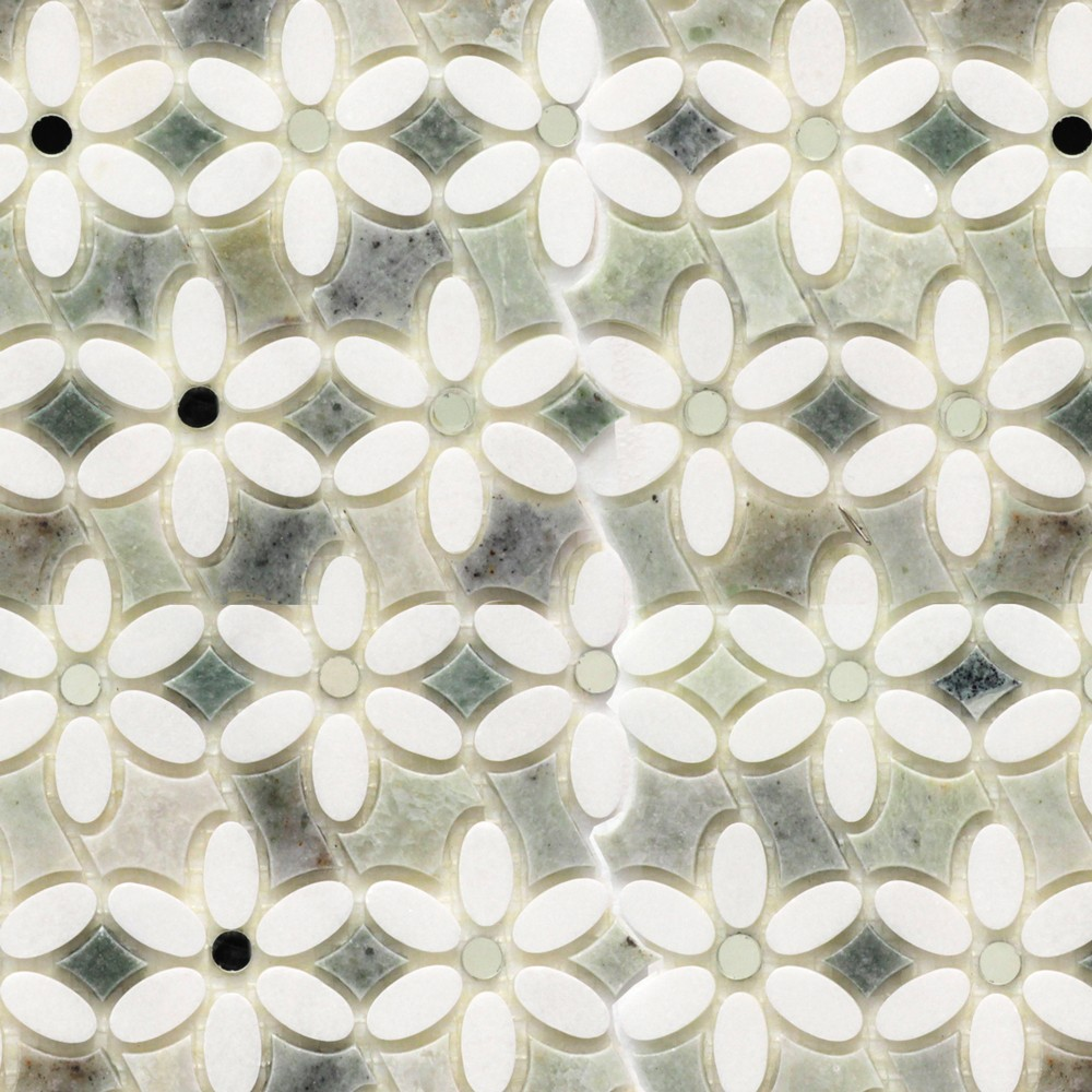 Ming Green Marble Tile : Shop for highland zinnia thassos and ming green mirror