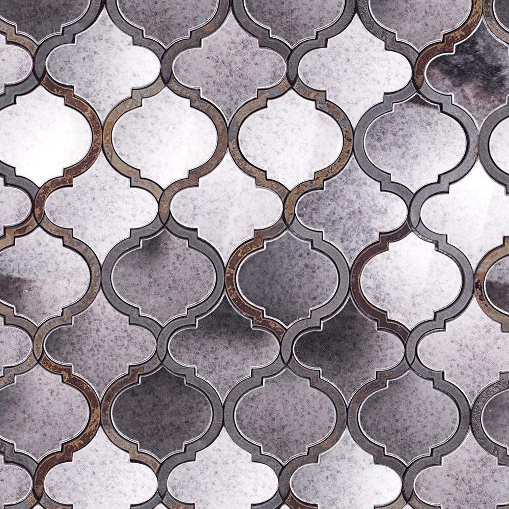 Veranda paris gray quartz and mirror tile for Mirror tiles