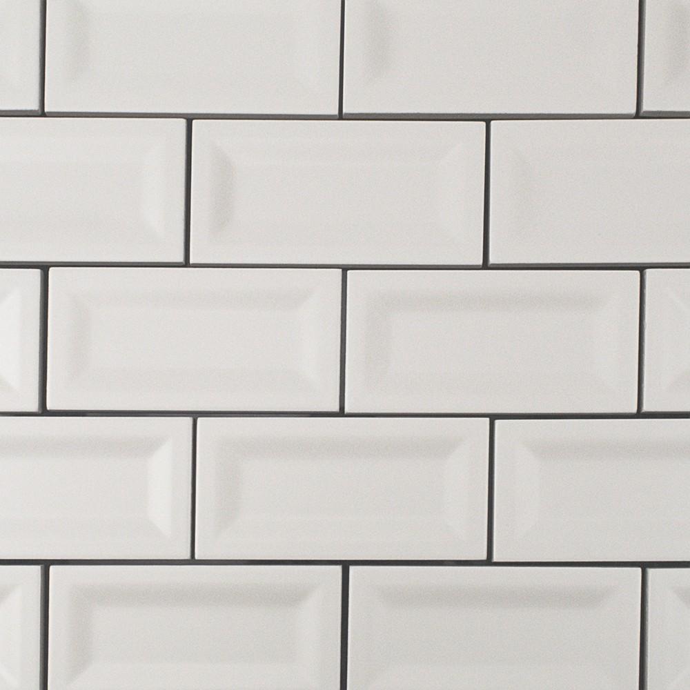 Basic 3x6 White Inverted Matte Ceramic Tile