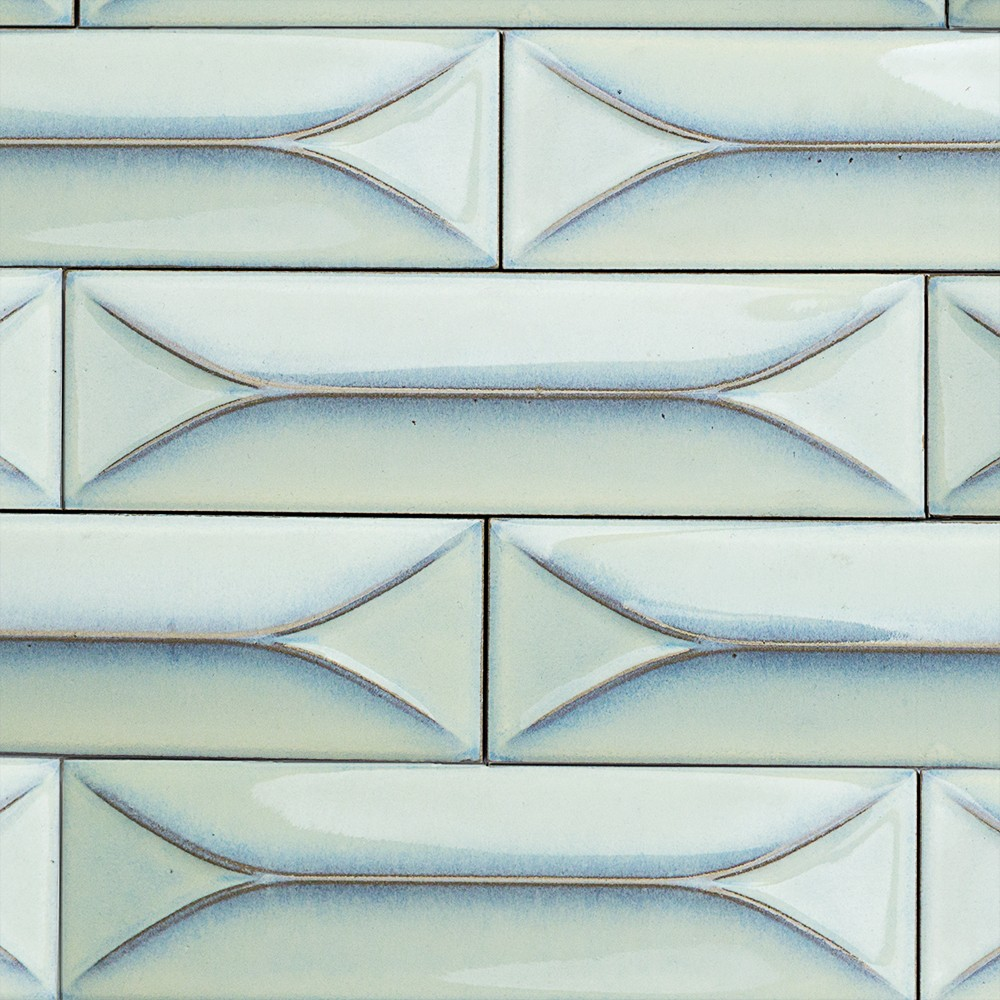 Byzantine Alice Blue 3d Ceramic Tile