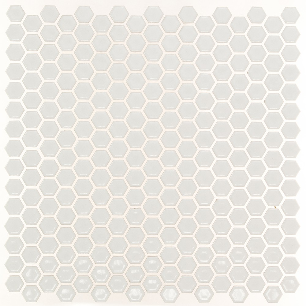 Eden White Hexagon Polished Ceramic Tile