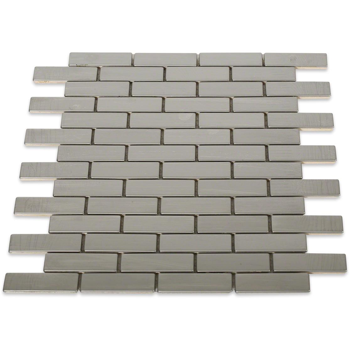 Stainless Steel Bricks : Shop for stainless steel metal tile brick pattern
