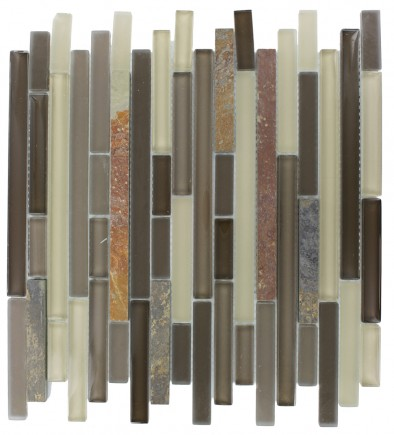 GEOLOGICAL TAO MULTICOLOR SLATE & KHAKI BLEND GLASS TILES 1/2xRANDOM_MAIN