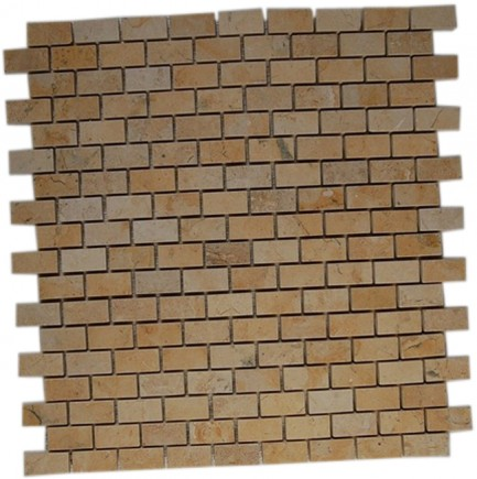 sample-JERUSALEM GOLD 1/2X1 TILE CLASSIC BRICK 1/4SHEET SAMPLE_MAIN