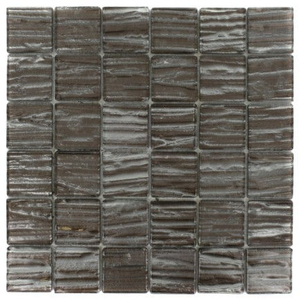 Terrene Rosewood 2x2 Glass Tile