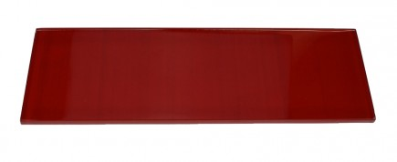 LOFT CHERRY RED POLISHED 4x12 GLASS TILE_MAIN