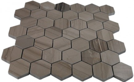 "ATHEN GREY 2"" HEXAGON POLISHED MARBLE MOSAICS_MAIN"