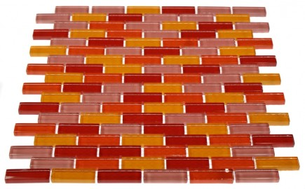 "LOFT SUSHI 1/2 X 2"" POLISHED GLASS TILES IN BRICK PATTERN""_MAIN"
