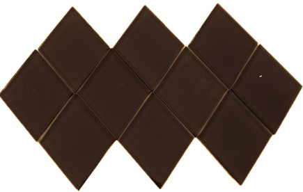 Loft Irish Coffee Diamond  Glass Tile
