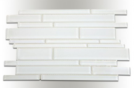 Tuscany Pattern Super White Glass Tile