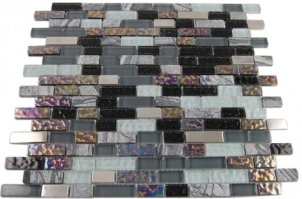 NIMBUS GRAY BLEND BRICKS 1/2X2 MARBLE & GLASS TILE BRICKS_MAIN