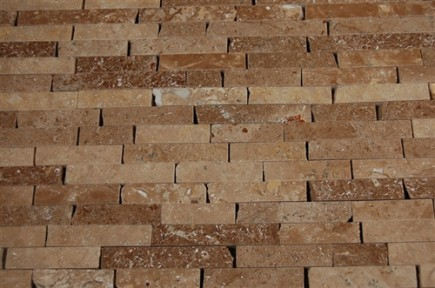 sample-NOCHE TRAVERTINE 1/2X2  TILE CRACKED JOINT BRICK, 1/4 SHEET SAMPLE_MAIN
