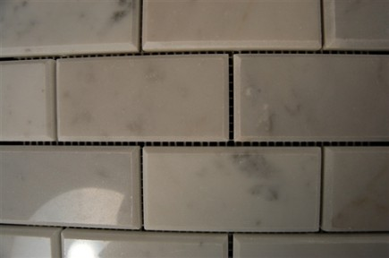 sample- WHITE CARRERA 2X4 BRICK BEVELED TILE 1/4 SHEET SAMPLE_MAIN