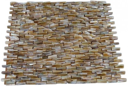 South Seas Pearl 3D Brick Pattern Mosaic Tile_MAIN