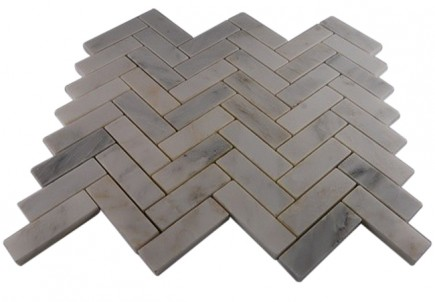 ASIAN STATUARY HERRINGBONE 1X3 MARBLE TILE_MAIN