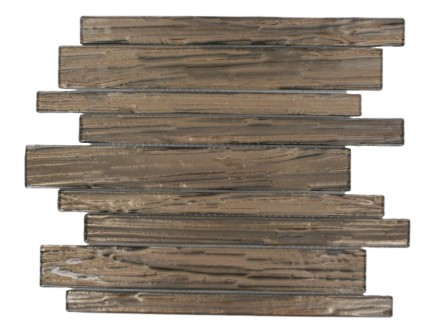 Terrene Copper Beech Planks Glass Tile