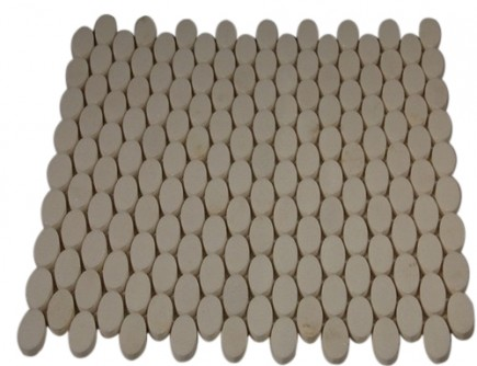 KINETIC WHITE THASSOS OVALS MARBLE TILES_MAIN