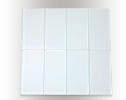 "LOFT SUPER WHITE POLISHED 3 X 6"" GLASS TILES"