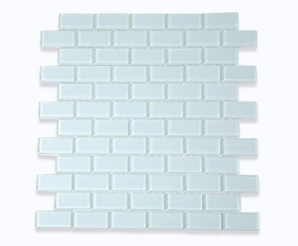 Ice White Polished Glass Tile