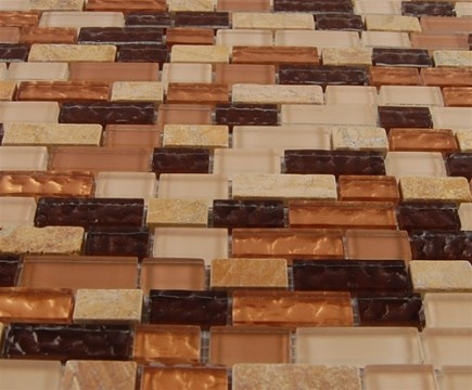 "sample- GOLDEN ROAD BLEND BRICKS 1/2 X 2""  TILES 1/4 SHEET SAMPLE BRICKS""_MAIN"