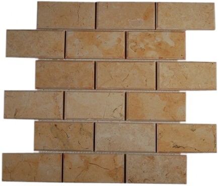 sample-JERUSALEM GOLD BEVELED 2x4  TILE 1/4SHEET SAMPLE_MAIN