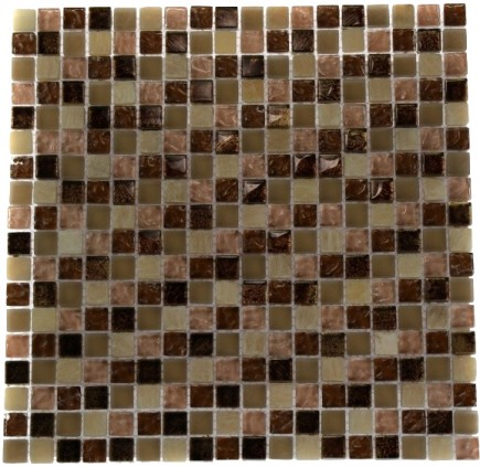 SQUARES - SOUTHERN TRAIL BLEND 1/2X1/2 MARBLE & GLASS TILE SQUARES_MAIN