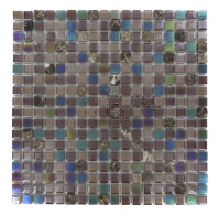Whimsical Sandpebble Glass Tile