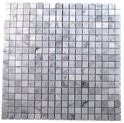 sample-WHITE CARRERA 3/4X3/4  TILE 1/4 SHEET SAMPLE_MAIN