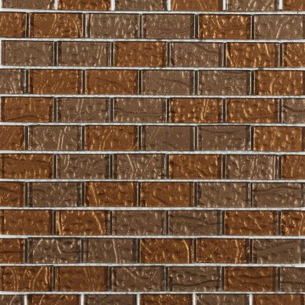 Chocolate Blend 1x2 Glass Tile