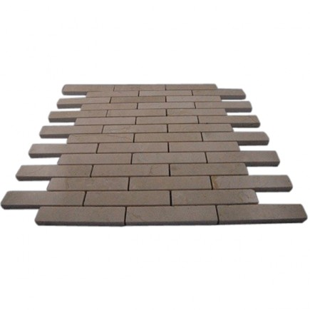 CREMA MARFIL 3/4 X 4 BIG BRICK PATTERN MARBLE MOSAIC TILES_MAIN