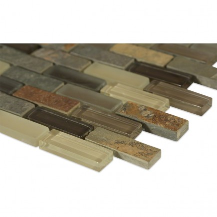 Geological Brick Multi Slate + Khaki_corner_closeup