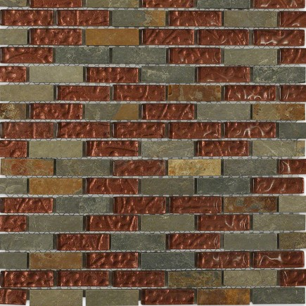 Geological Brick Multi Slate + Rust_Main