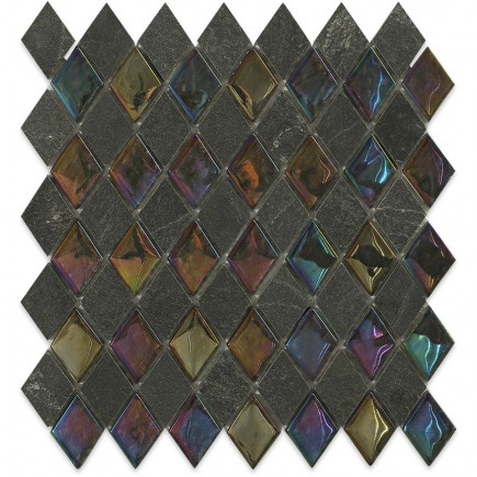 Geological Diamond Black Slate + Rainbow_Main