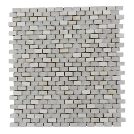 Paragon Pearl Lace Mini Brick Pattern  Tile