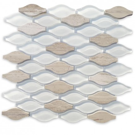 Iota Fleur De Sel Glass and Marble Tile