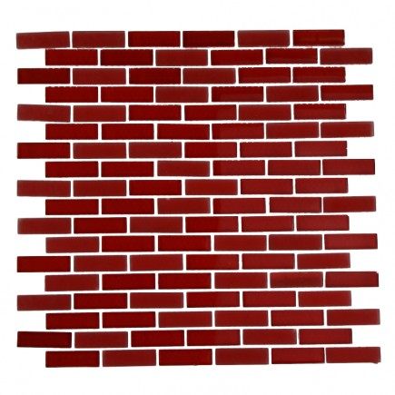 LOFT CHERRY RED 1/2X2 BRICK PATTERN_MAIN