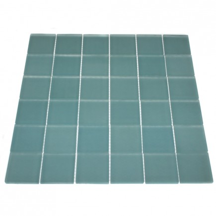 "LOFT TURQUOISE FROSTED 2 X 2"" GLASS TILES""_MAIN"