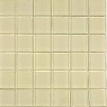 Loft Cream Polished 2 X 2 Glass Tiles