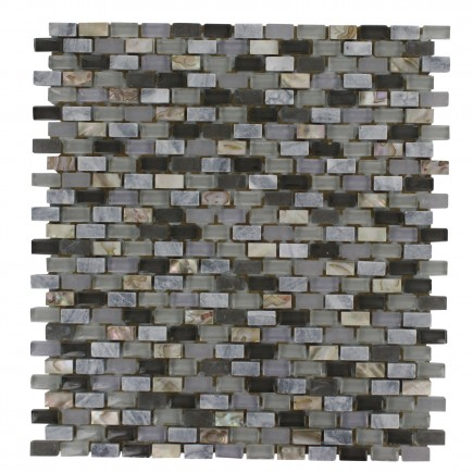 Paragon Surf Periwinkle Mini Brick Pattern  Tile