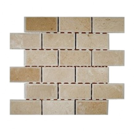 sample-CREAMA MORFILL BEVELED 2x4  TILES 1/4SHEET SAMPLE_MAIN