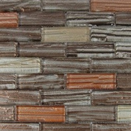 Terrene Jupiter Blend 1x3 Glass Tiles
