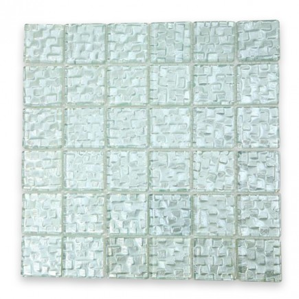 Terrene Snow Cap 2x2 Glass Tile