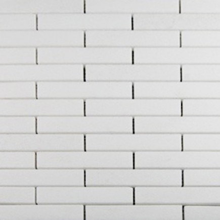 WHITE THASSOS 3/4 X 4 BIG BRICK PATTERN MARBLE MOSAIC TILES_MAIN