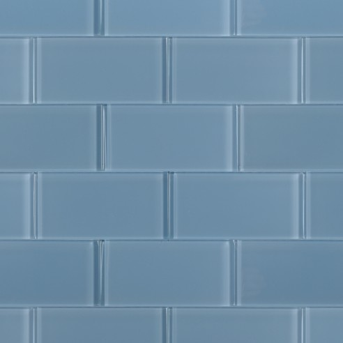 Loft Blue Gray Polished 3x6 Glass Tile
