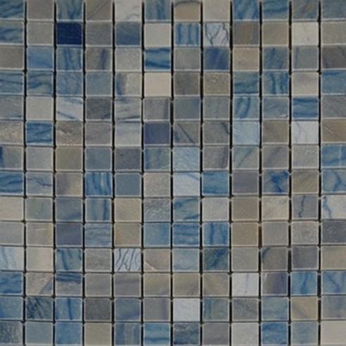 "BLUE MACAHUBA 3/4"" X 3/4"" MARBLE MOSAIC TILE_MAIN"