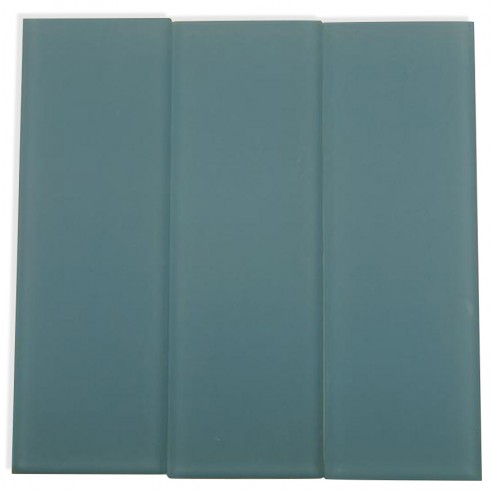 Loft Blue Gray Frosted 4X12 Glass Tiles