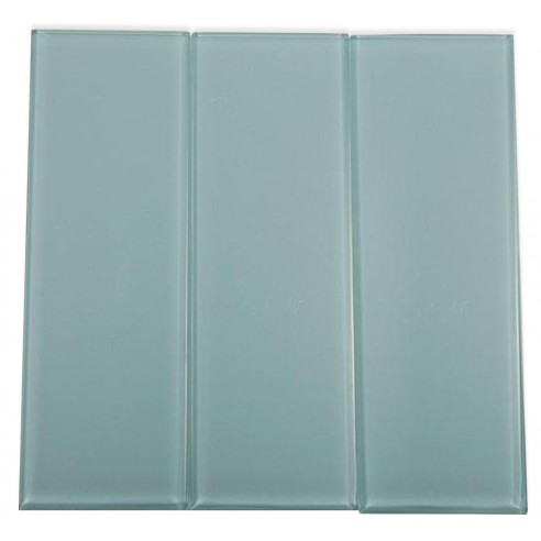 Loft Blue Gray Polished 4X12 Glass Tiles