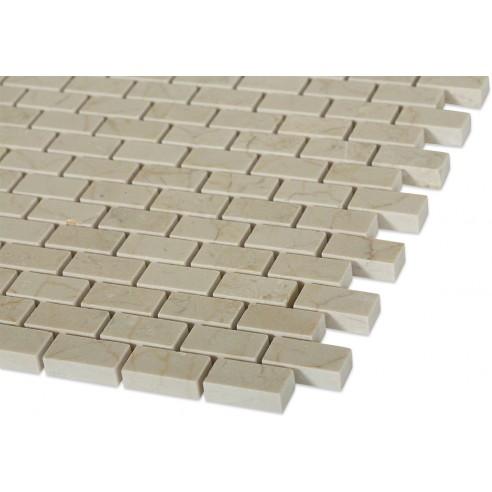 Crema Marfil 1/2 x 1 Classic Brick_corner_closeup